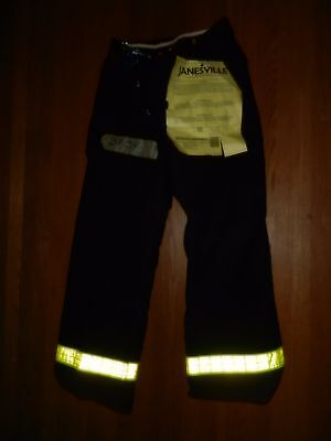 Janseville Insulated Firemen's Turnout Bunker Pants Size 34X34 Black