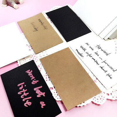 100pcs Simple Craft Words Note Card Blank Business Wedding Cards DIY Hot UK