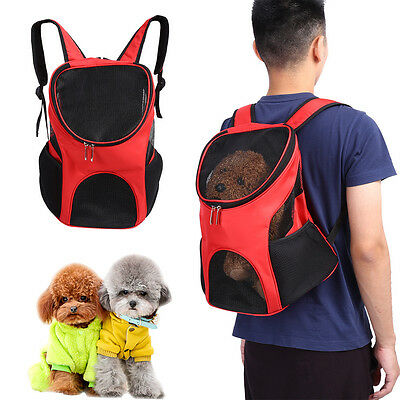 Outdoor Double Shoulder Dog Bag Backpack Pet Travel Dog Carrier Mesh Windows New
