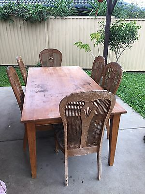 Solid 8 Seater Table With Chairs