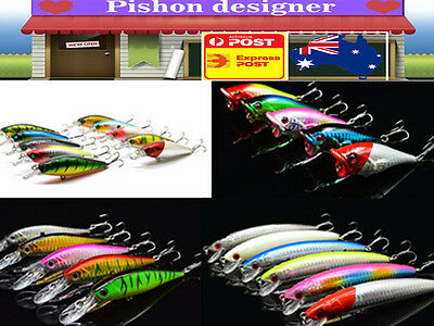 Hot Fishing Bait Lure 3D Vivid Crank Baits Fake Fish Lures Colourful Attractive