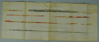 Grand Portages of Pigeon River Lake Superior Antique Map 1852