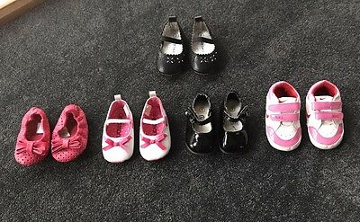 Girls Baby Shoes Size 1 And 2.