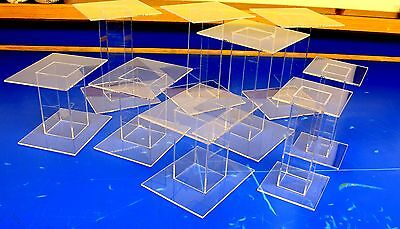 16 Lot Pedestal Display Risers, Huge Clearance Lot, Made In USA