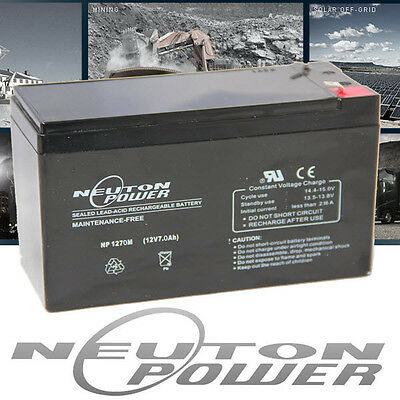 Neuton Power NP1270 12V 7Ah AGM Sealed Lead Acid Battery WP7-12 LP12-6.5 BP7-12