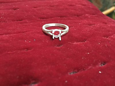 925 Sterling Silver Semi Mount Ring Setting 7 mm round Stone All Sizes DM First