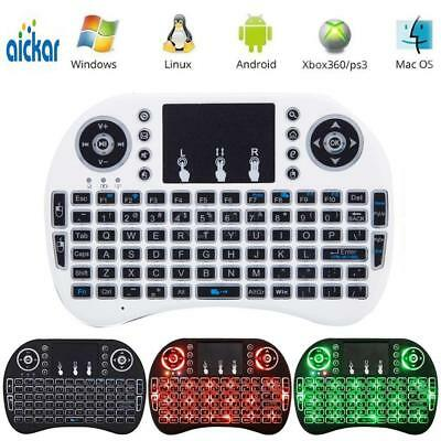 3 Colors Backlit Mini i8 2.4GHz Wireless Keyboard Touchpad for TV Box Android PC