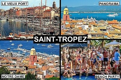 SOUVENIR FRIDGE MAGNET of SAINT-TROPEZ FRANCE