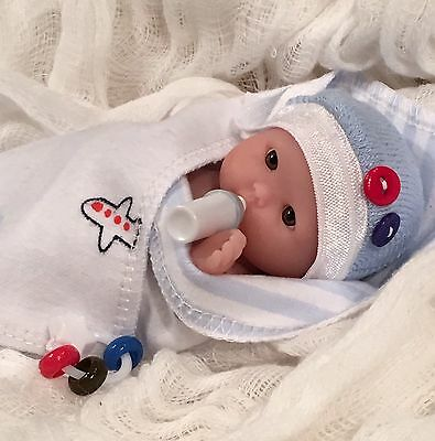 """CUTE 5 pc Baby BoY DOLL CLOTHES SeT~PaCifieR~ToY~FOR 5-6"""" Mini Reborns~Berenguer"""