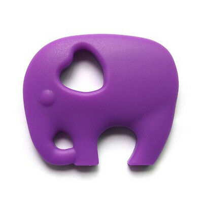 Silicone Necklace Teething Pacifier Pendant Soother Teether Baby Kids Purple