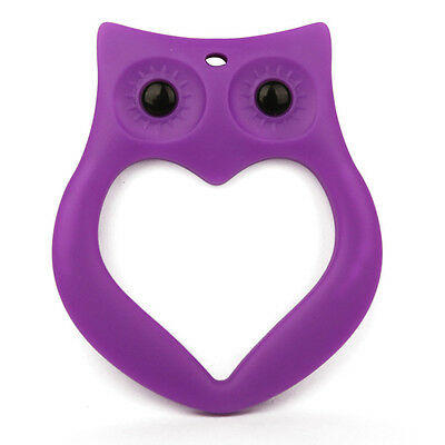 Silicone Necklace Teething Pacifier Pendant Soother Teether Baby Kids Purpel Owl