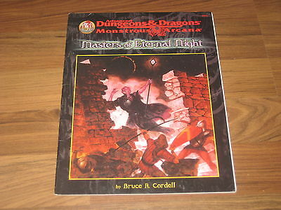 AD&D 2nd Edition Monstrous Arcana Masters of Eternal Night 1998 TSR 9571