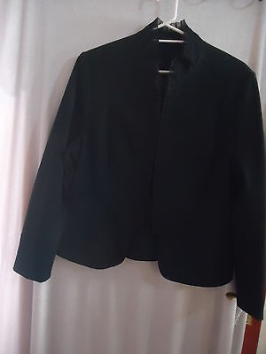 Black  Collarless Jacket Ladies Size 14