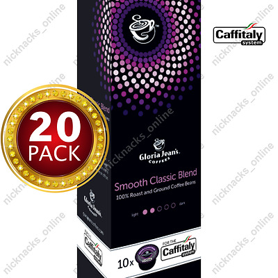 20 Capsules Gloria Jeans Coffee Smooth Classic Blend Pods Caffitaly System