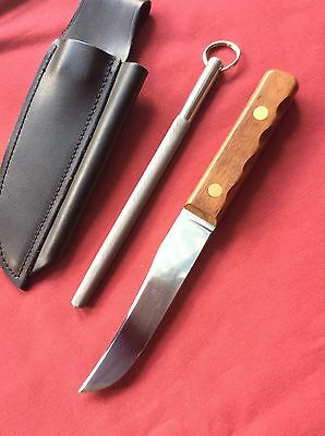J.nowill And Sons Knife Steel And Sheath Sheffield England