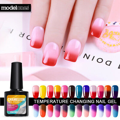 Modelones Thermal Change Nail Gel Polish UV LED Soak Off Varnish Manicure 10ml