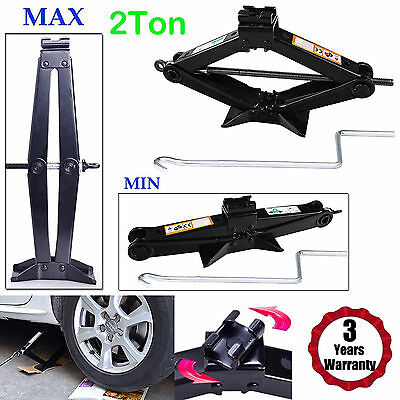 2 Ton Tonne Car Van Garage Home Emergency Wind Up Scissor Jack Lift High Quality