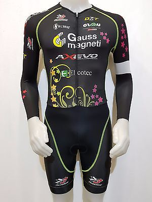 Completo Salopette Ciclismo Gauss Magneti Axevo Threeface Tg.s Cycling Team 309