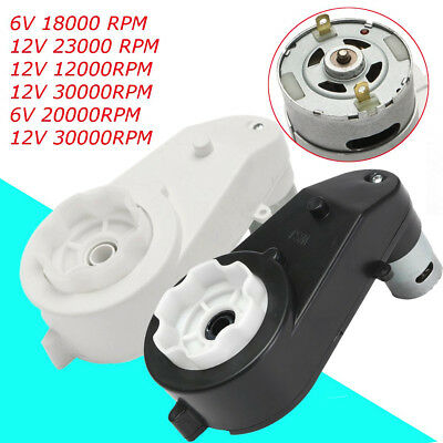 12000-30000 RPM 6V/12V Electric Motor Gear Box For Kids Ride On Bike Car Toy