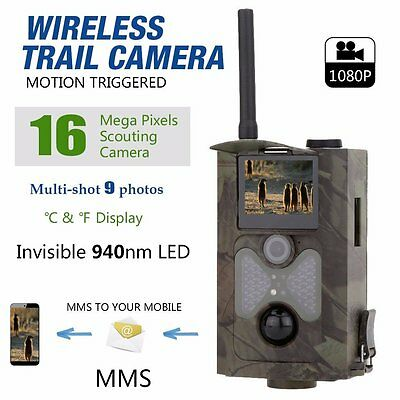 HC550M Hunting Camera Scouting Trail Cameras Trap SMS SMTP GPRS MMS 16MP 1080P