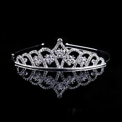 Fashion Women Crystal Rhinestone Tiaras Crown Headband Bridal Wedding Jewelry