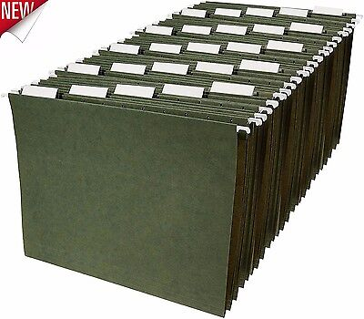 Letter Size Hanging File Folders Sorting Cabinet 25 Pack Storage Office Green