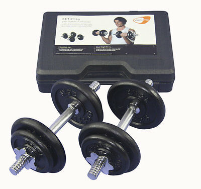 Get Fit 20 kg Weight Set + Plastic Box