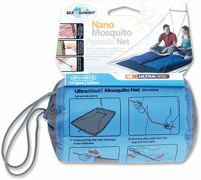 Sea to Summit Mosquito Nano Pyramid Net Double - zanzariera