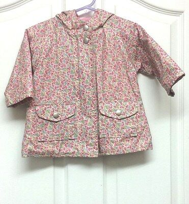 Baby Gap Girls Size 6-12 Months Lined Hooded Raincoat