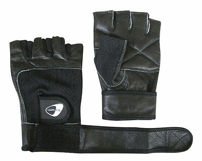 Get Fit Leather Fitness Gloves - Guanti