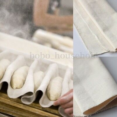 Bakers Proofing Couche Flax Linen Cloth Proving Bread Pans Baguette Bakery Gift