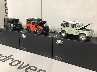 Land Rover Defender All 3 Collectors Editions  1:18 Scale Model