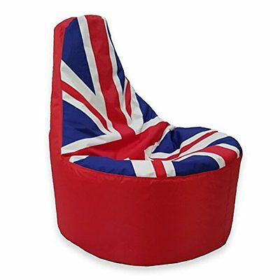 Large Bean Bag Gamer  Beanbag Adult Outdoor Gaming Garden Big Chair Union Jack