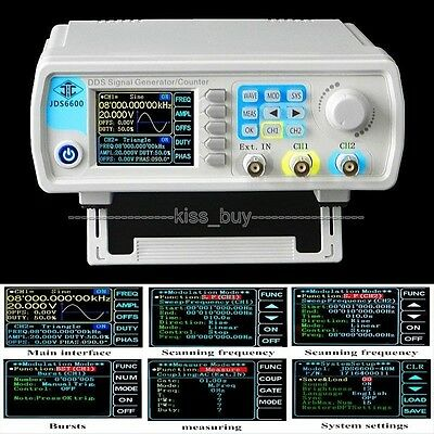 LCD Dual Channel Function / Signal Generator pulse signal source frequency meter