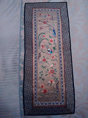 RARE Chinese Embroidery Tapestry  Silk Panel