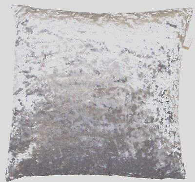 """Shimmery Silver Grey Crushed Lustre Velvet 24"""" Cushion Cover £9.99 Free Postage"""
