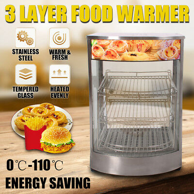 Stainless Steel Food Warmer Egg Tart Pie Warm Fresh Hot Display Showcase Cabinet