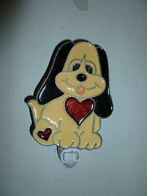 """Stained Glass Style """"cute Puppy """"  Night Light"""