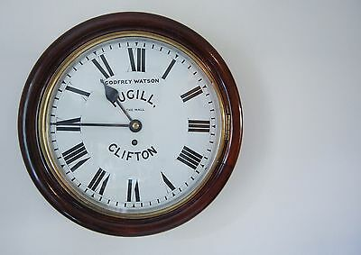 Victorian Fusee Dial Clock By Godfrey Watson Fugill Of Clifton The Mall Bristol