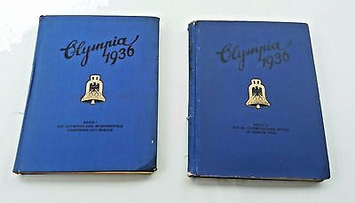 The Olympic Games 1936 -Berlin 2 Vols Complete Photo Cards Hardback Linen Cloth