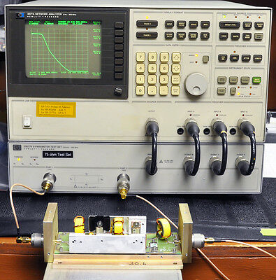 HP 3577A Network Analyzer 5Hz to 200MHz with both 50 and 75 ohm Test Sets