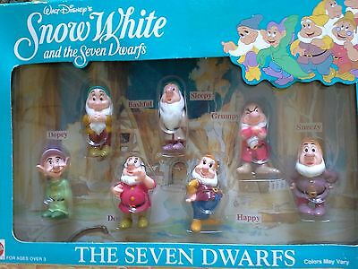 Disney Snow White & The Seven Dwarfs - Set of 7 Dwarf Figures~Mattel 1993