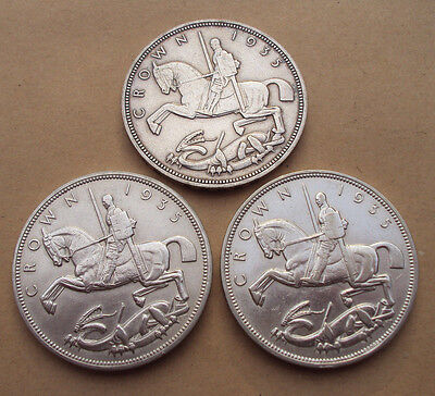 1935 George V silver Crown - choice of coins
