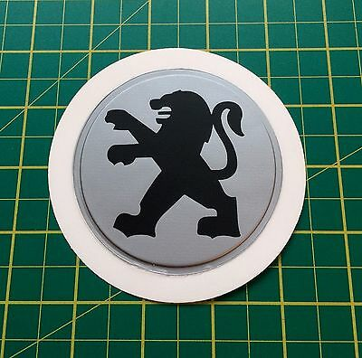 Silver Plastic Self Cling Tax Disk and Parking Permit Holder Peugeot Black logo