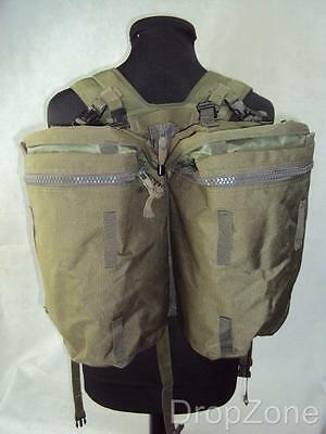 British Army Issue Soldier 90 Olive Green PLCE Webbing Side Pouches & Yoke Set