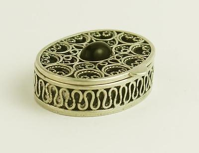Sterling Silver PILL BOX London Import 1983