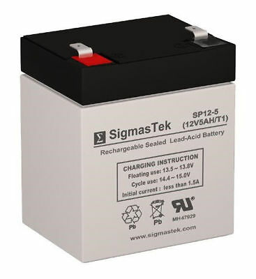 SigmasTek Replacement SLA Battery For Leoch DJW12- 4.5 12V 5 AH F1 Battery