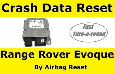 Range Rover Evoque Airbag Module Crash Data Reset Service For ecu GJ32 14D374 AB