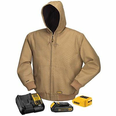 DCHJ064C1 Dewalt Heated Jacket Kit Khaki Medium