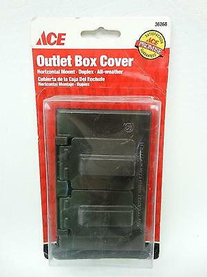 NEW Ace 36268 Bronze Duplex Horizontal Mount All Weather Outlet Box Cover